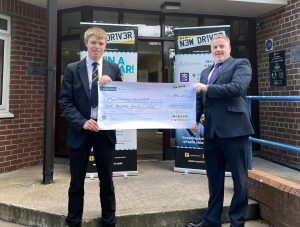 Dronore high New Driver voucher winner Henry Thompson