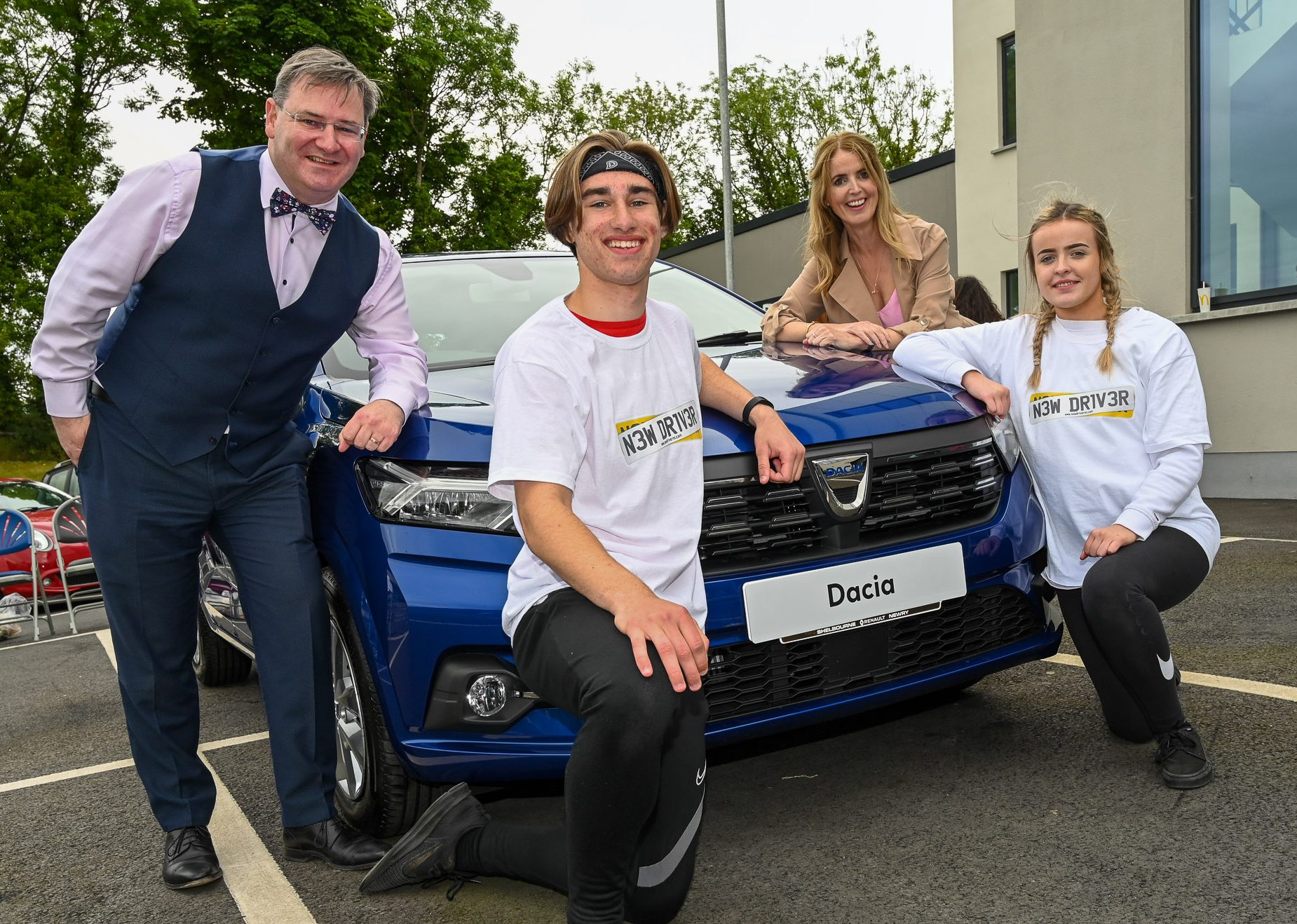 Two winners each WIN a new car at New Driver NI's 'Touch The Car' Competition sponsored by CRASH Services and JMK Solicitors.